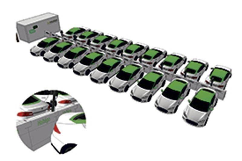Les Teslas de Téo Taxi rechargées grâce à Bectrol