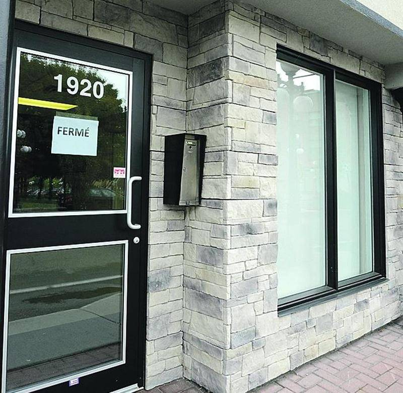 Le bureau de circonscription de Saint-Hyacinthe de la députée néodémocrate Marie-Claude Morin est fermé depuis plusieurs jours. Photo Robert Gosselin | Le Courrier ©