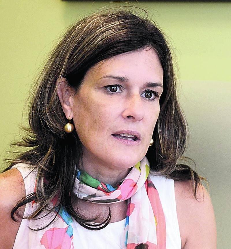 Nathalie Laberge, directrice générale par intérim de la Cité de la biotechnologie et du CLD Les Maskoutains. Photo François Larivière | Le Courrier ©