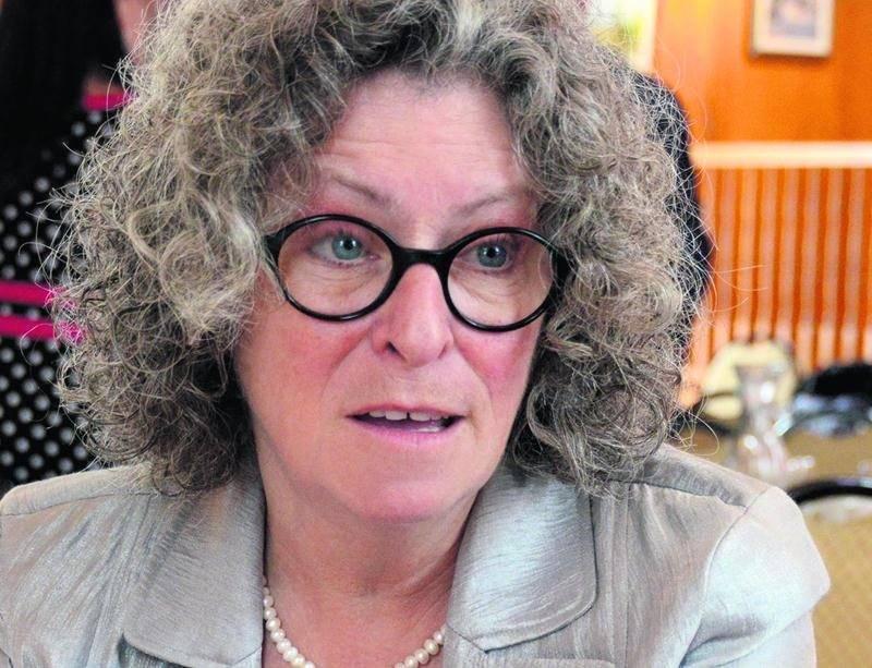 La directrice générale de la Chambre de commerce et de l'Industrie Les Maskoutains, Claire Sarrasin. Photo François Larivière | Le Courrier ©
