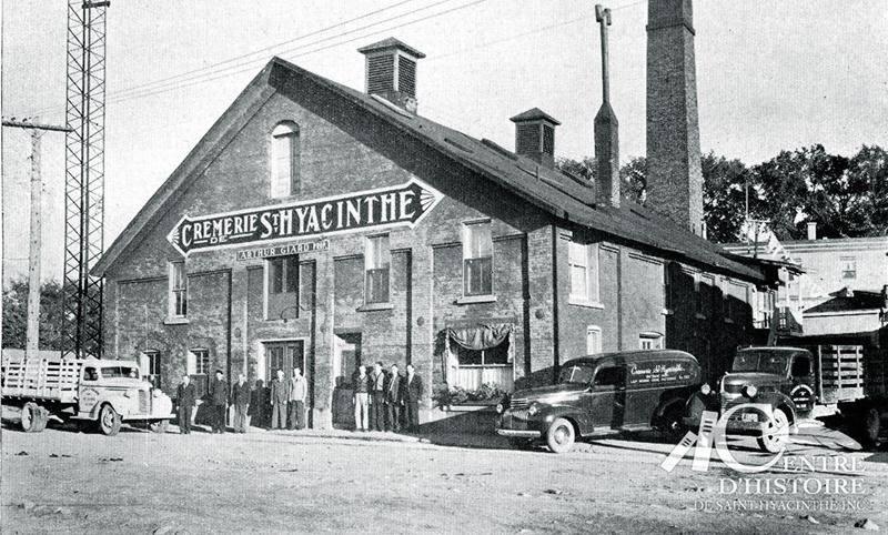 Crèmerie Saint-Hyacinthe d'Arthur Giard vers 1945. Fonds d'archives du Centre d'histoire de Saint-Hyacinthe.
