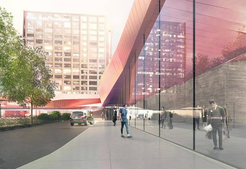 Maquette du futur centre de congrès municipal qui comprendra un hôtel haut de gamme de 200 chambres. Photothèque   Le Courrier ©