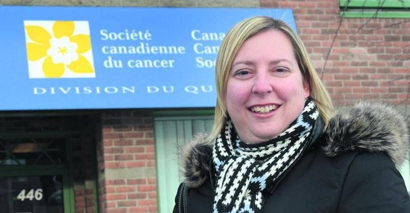 Chaque année depuis dix ans, Geneviève Courchesne amasse des fonds au profit de la Société canadienne du cancer. Photo François Larivière | Le Courrier ©