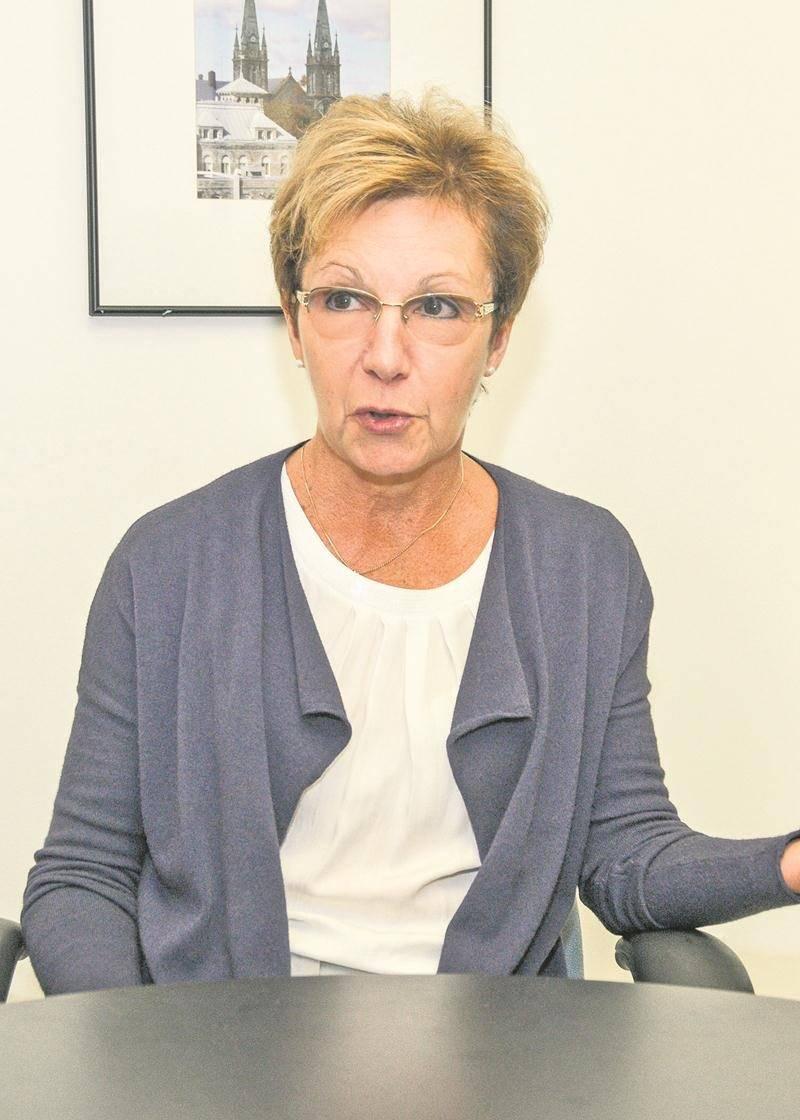 Sylvie Adam, conseillère sortante, district Cascades (centre-ville).  Photo François Larivière   Le Courrier ©
