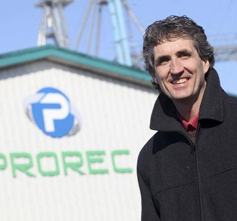 Stéphane Le Moine, dirigeant de l'entreprise Prorec.