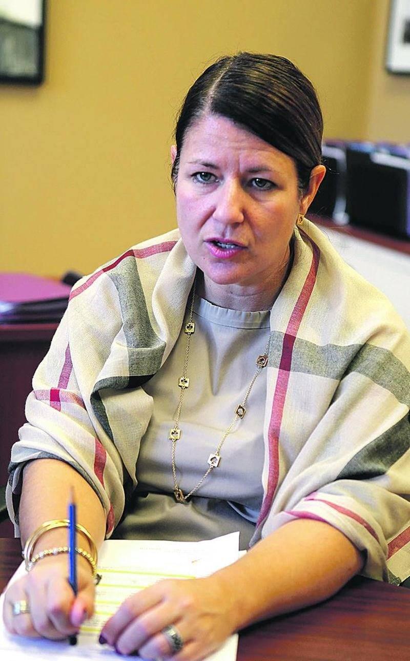 La directrice générale de la Commission scolaire de Saint-Hyacinthe, Caroline Dupré. Photo Robert Gosselin | Le Courrier ©