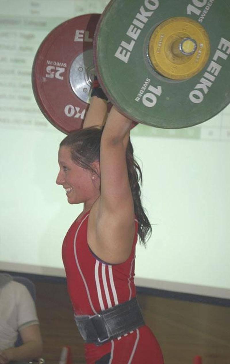 Catherine Darsigny a remporté pour la première fois le championnat canadien senior d'haltérophilie.