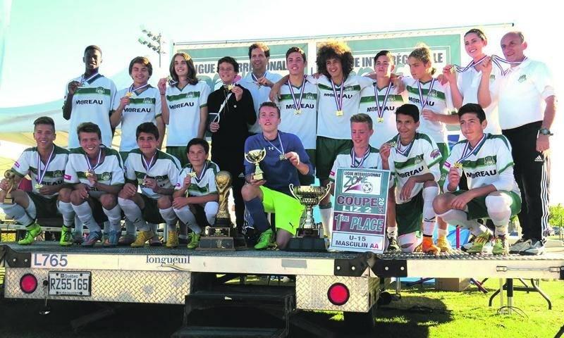 Le FC Saint-Hyacinthe U15 AA masculin a remporté les séries éliminatoires de la LIZ2. Photo Courtoisie