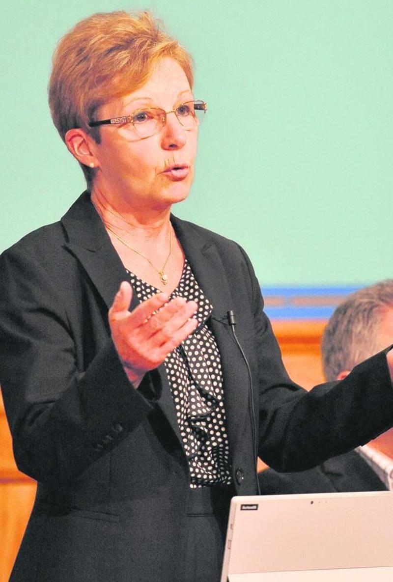 La conseillère Sylvie Adam, membre du comité de démolition. Photo François Larivière | Le Courrier ©