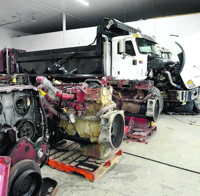 L'entreprise KC Diesel se spécialise dans la réparation et le reconditionnement de moteurs diesel pour les camions. Photo François Larivière | Le Courrier ©
