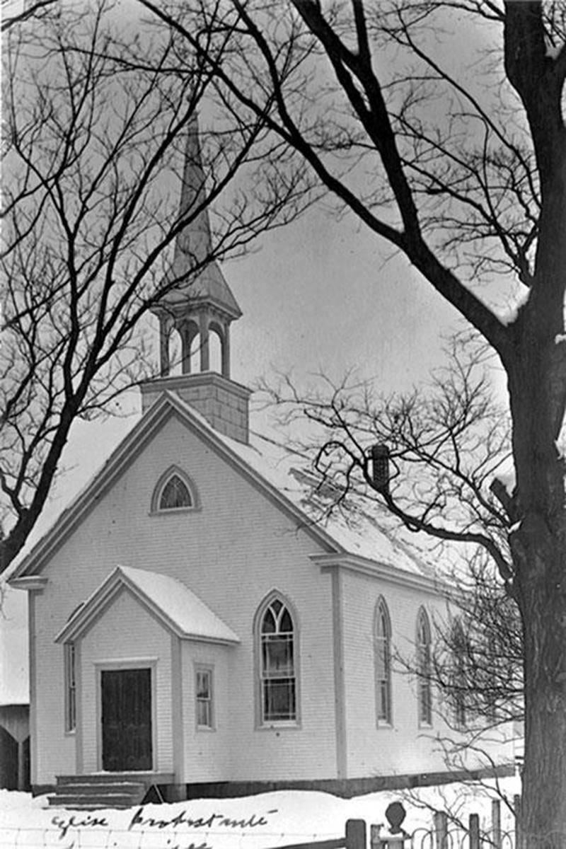 Nouvelle église protestante de Saint-Pie, en 1909, aujourd'hui disparue.