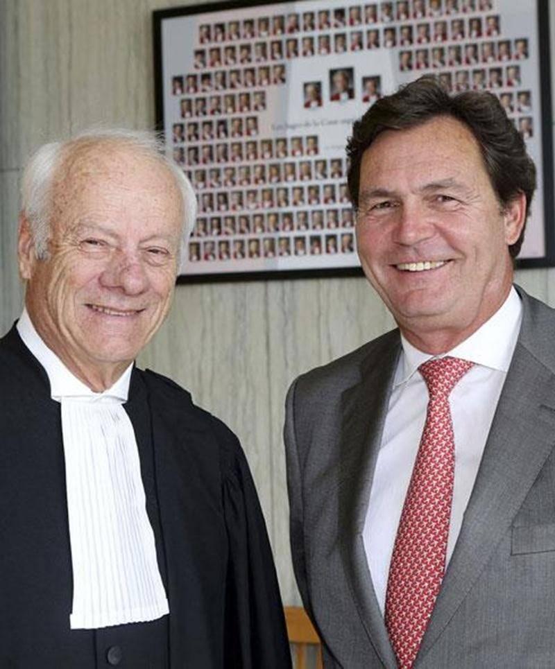 Le juge Richard Wagner a souligné les 50 ans de Barreau de Jacques Sylvestre père.