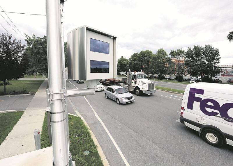 Depuis l'implantation à la mi-juillet du radar photo sur boulevard Laframboise à Saint-Hyacinthe, plus de 80 000 $ d'amendes ont été données à des conducteurs fautifs. Photothèque  | Le Courrier ©