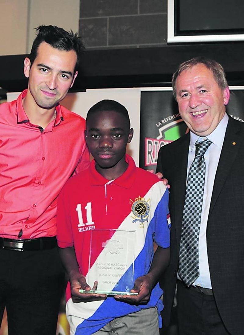 Junior Kabwe, athlète régional espoir de l'ARSRY. Photo Robert Gosselin