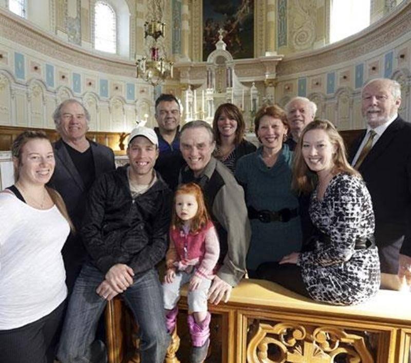 Une partie de la Famille Huard qui chantera à l'église de Saint-Denis à la fin du mois.