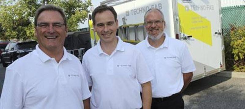 Guy Côté, Yan Lachance et Louis Therrien de l'entreprise Techno-Fab