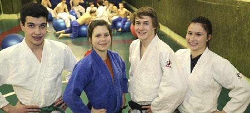 Alexandre Fortin, Sandrine Fournier, Benjamin Daviau et Audrey Poirier iront à Jonquière à la mi-mai dans le cadre du Championnat canadien de judo.