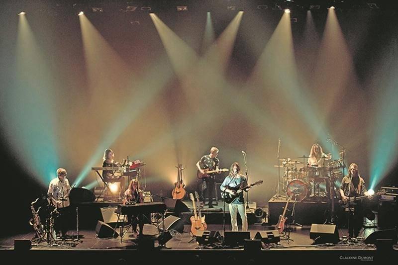 Les sept musiciens de Premier Ciel se sont donné comme défi de faire revivre L'Heptade tel qu'il a été interprété sur scène par Harmonium. Photo Claudine Dumont
