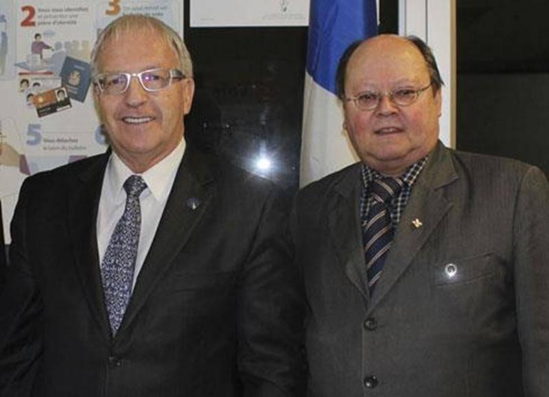 L'ex-député péquiste Émilien Pelletier en compagnie de son ex-attaché politique Bertrand Desrosiers en des temps plus heureux.