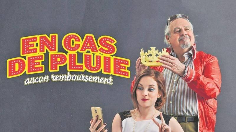 La pièce En cas de pluie, aucun remboursement, présentée le vendredi 15 décembre, met notamment en vedette Raymond Bouchard et Catherine Paquin-Béchard. Photo courtoisie