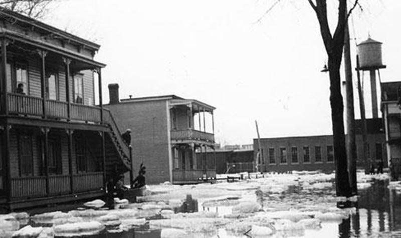 Inondation de 1936 bas de la Ville de Saint-Hyacinthe.