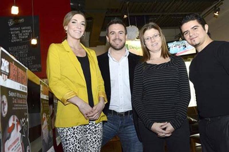 De l'organisation du Défi Futsal, Émilie Duquette, Guillaume Duhamel, Julie Savignac et Kevin Cournoyer.
