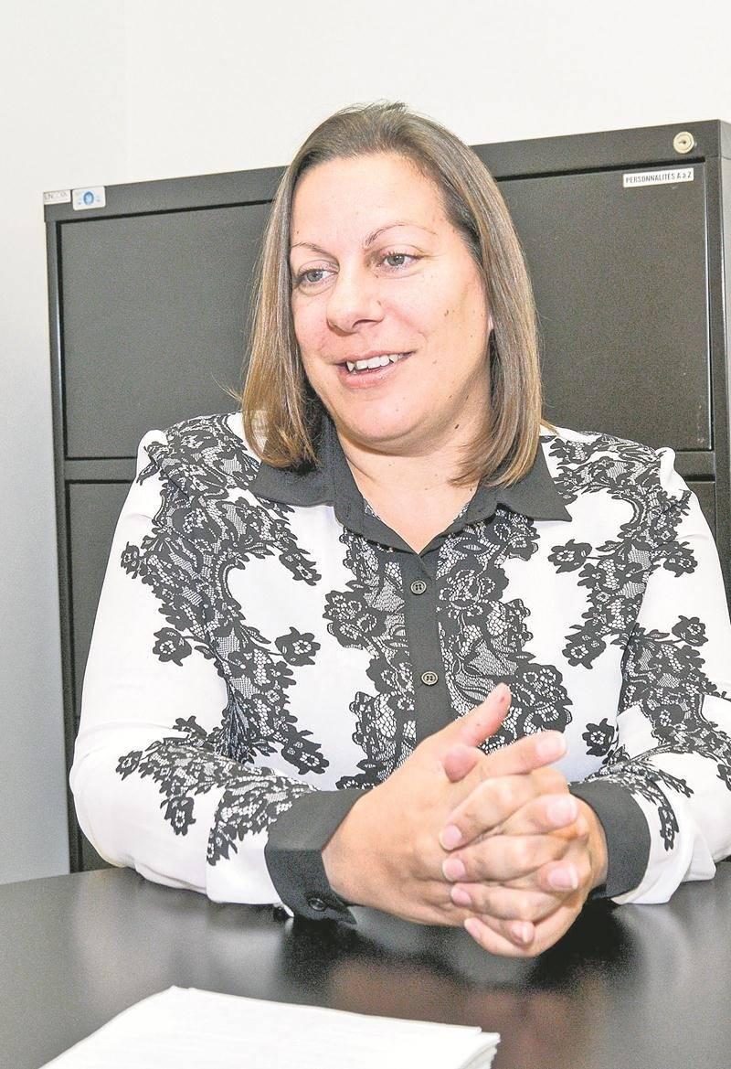 Julie Raiche, candidate dans le district Hertel - Notre-Dame. Photo François Larivière | Le Courrier ©