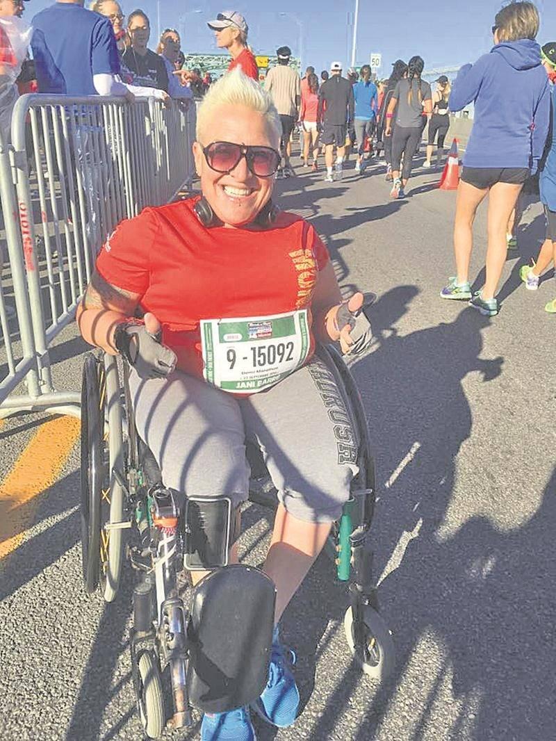 Jani Barré au Marathon de Montréal l'an dernier. Photo Facebook