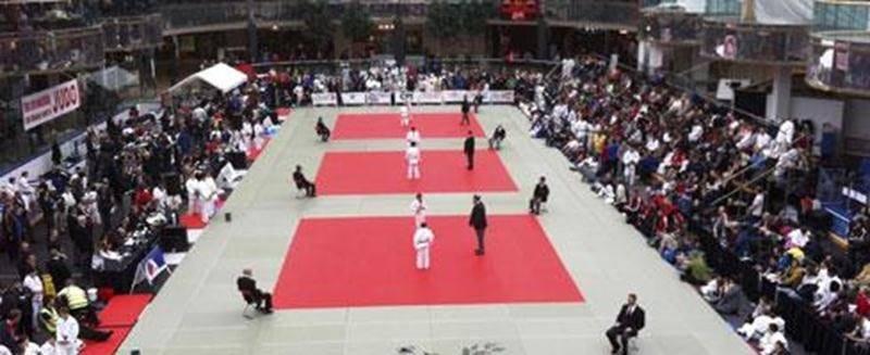 Le site de compétition du Championnat international de judo d'Edmonton, au West Edmonton Mall.