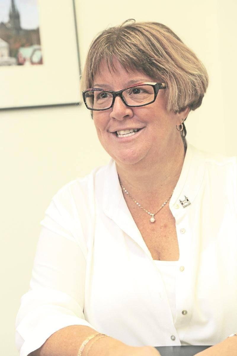 Annie Pelletier, conseillère sortante dans le district Saint-Sacrement. Photo Robert Gosselin   Le Courrier ©