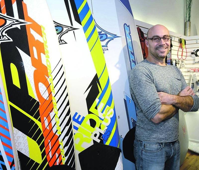 Benoit Gauthier, propriétaire de la boutique en ligne Wind Spirit à Saint-Hyacinthe. Photo François Larivière | Le Courrier ©