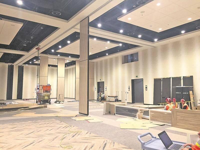 La salle principale du centre des congrès La Maskoutaine dispose d'une superficie de 25 000 pieds carrés.  Photo Ville de Saint-Hyacinthe