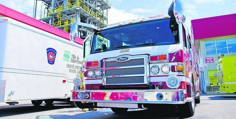 Un travailleur de l'entreprise Veolia a été brûlé mardi matin après avoir reçu des éclaboussures d'huile thermique. Bruno Beauregard