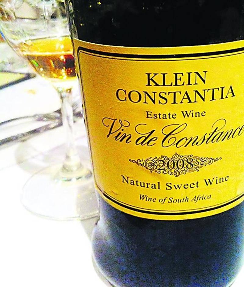 Or liquide, jadis vin préféré de Napoléon.  Photo Constance