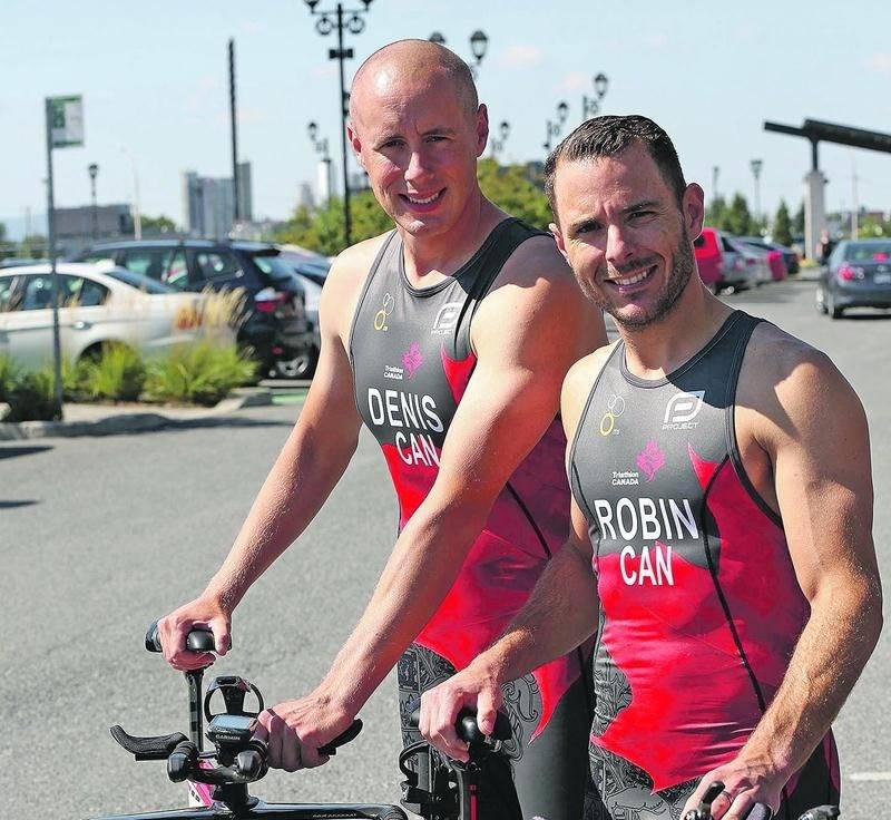 Sylvain Denis et Jonathan Robin représentent le Canada à l'épreuve tenue à Chicago aujourd'hui même. Photo Robert Gosselin   Le Courrier ©