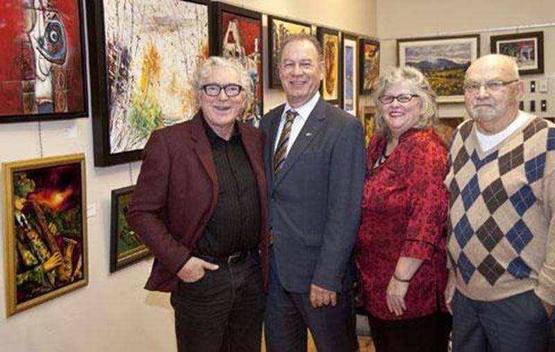 Winston Mc Quade, porte-parole; Guy Duhaime, président d'honneur; Johanne Lefebvre, responsable de la sélection des artistes; et Claude Rainville, président de la Fondation de l'Auberge du Coeur Le Baluchon.