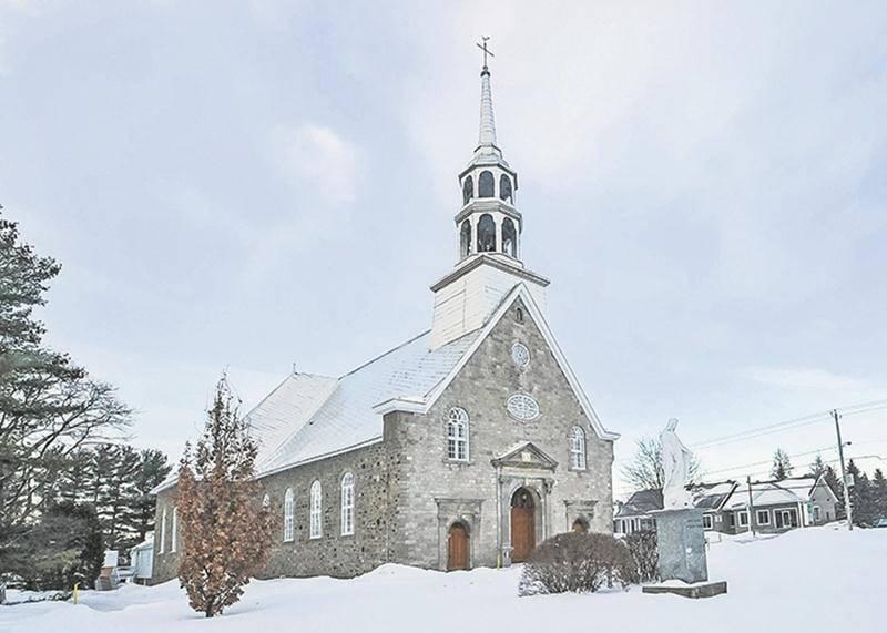 L'église La Présentation-de-Marie (1817-1820), à La Présentation, un site patrimonial classé.  François Larivière   Le Courrier ©