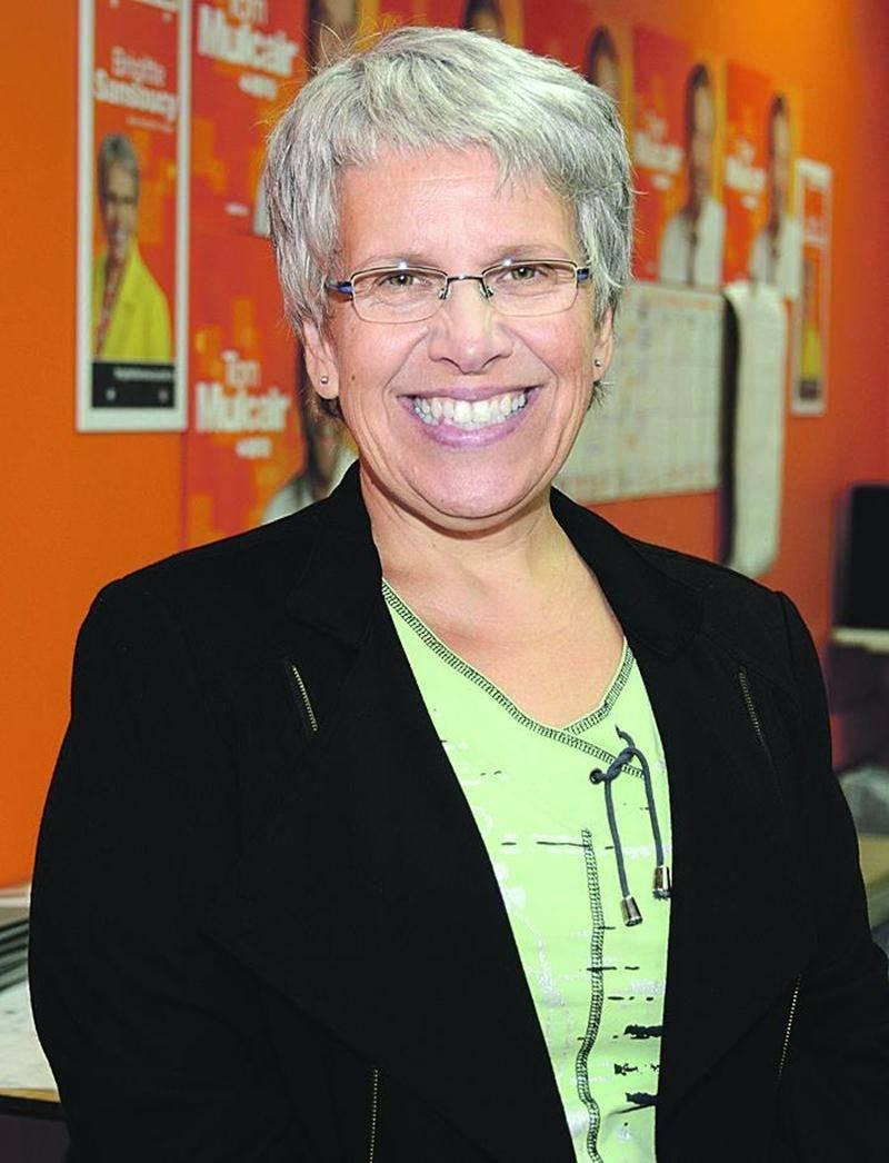 La candidate du NPD dans le comté Saint-Hyacinthe/Bagot, Brigitte Sansoucy.   Photo François Larivière | Le Courrier ©