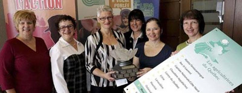 Le comité responsable de l'organisation de l'édition 2014 du concours d'agricultrice de l'année en Montérégie-est.