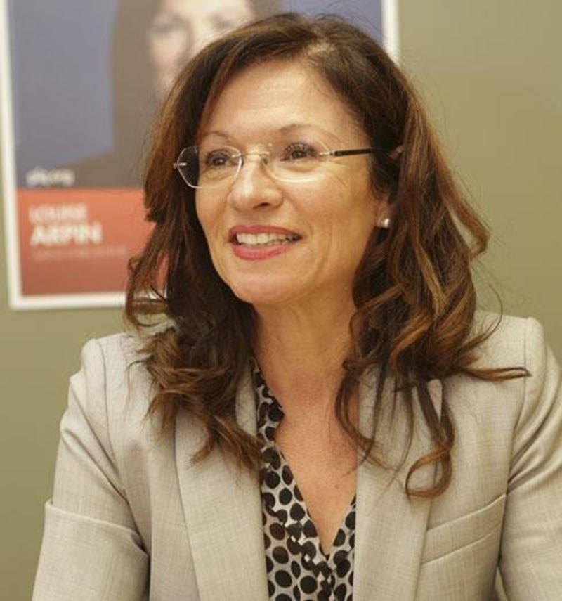 La candidate du Parti libéral dans la circonscription de Saint-Hyacinthe, Louise Arpin.