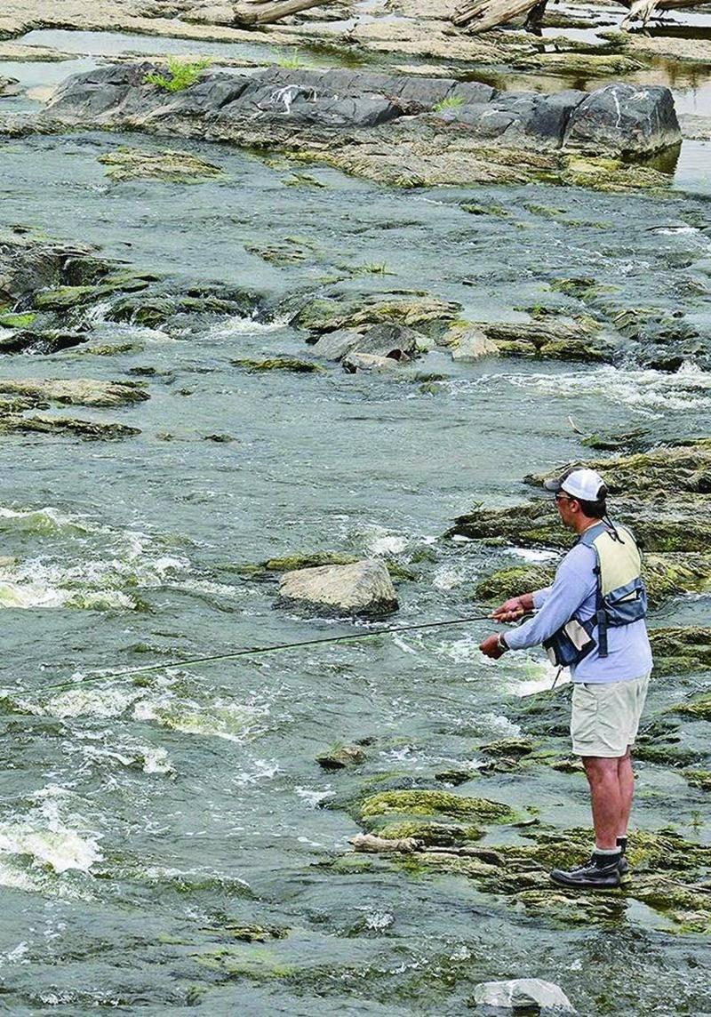 La Yamaska peut offrir une qualité de pêche insoupçonnée du grand public, soutient Luc Couture. Photo François Larivière   Le Courrier © (archives)