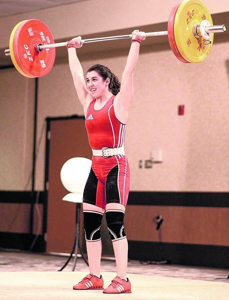 Tali Darsigny a égalé le record canadien chez les juniors pour le meilleur levé à l'arraché chez les 58 kg. Photo Courtoisie