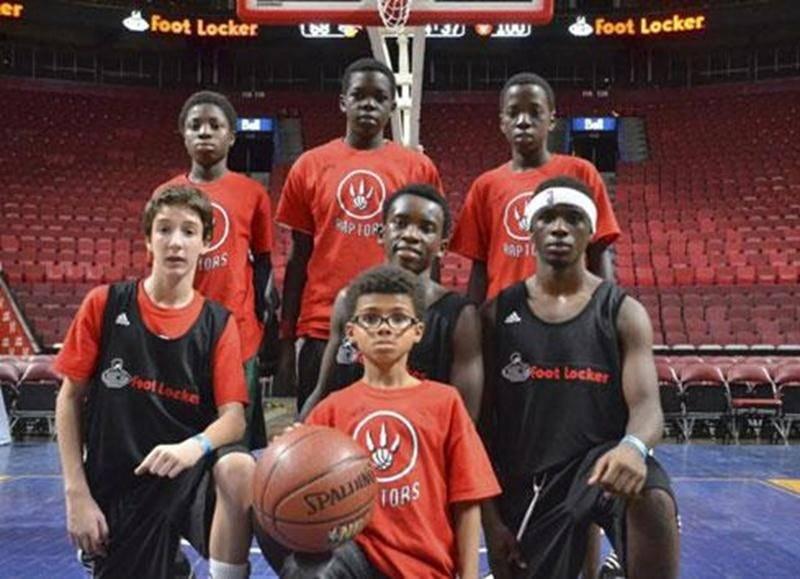 Les joueurs des V-Kings lors du passage de la NBA au Centre Bell le 19 octobre.