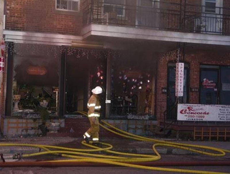 Un incendie a causé plus de 100 000 $ en dommages à un immeuble de l'avenue de la Concorde Nord, au centre-ville de Saint-Hyacinthe, qui abritait un restaurant au rez-de-chaussée et des logements à l'étage. Une quarantaine de pompiers ont combattu les flammes durant un peu plus d'une heure, lundi, en début de soirée. Huit personnes se trouvaient sur place et ont été évacuées. L'enquête a été transférée à la Sûreté du Québec, qui a découvert « certains éléments qui laissent croire à un incendie c