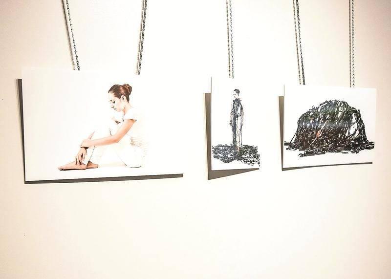 L'angoisse, l'incertitude et la solitude sont les thèmes principaux exploités par Augustin Houle-Forest dans cette première exposition solo. Photo François Larivière | Le Courrier ©