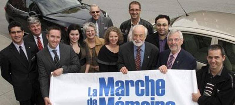 Le départ de la Marche de la mémoire sera donné aux Jardins de la Gare vers 10 h le 27 mai.