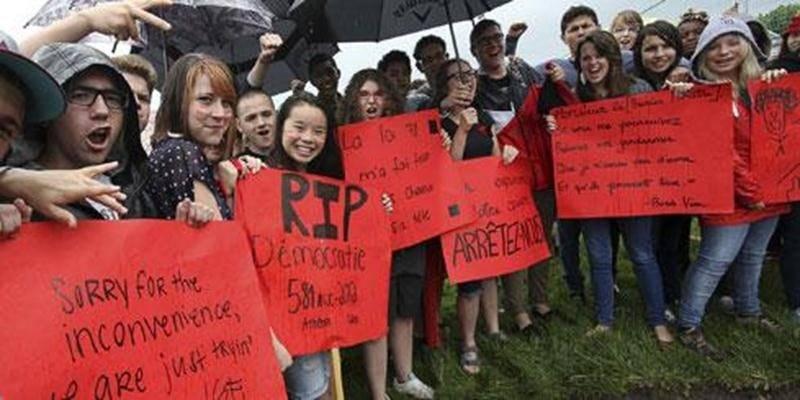 Des élèves de la PHD ont manifesté mardi.