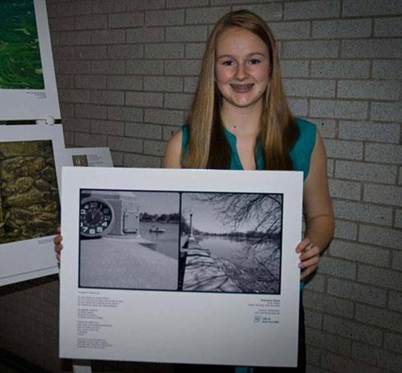 Rosemarie Plante, de l'école Fadette, gagnante du premier prix.
