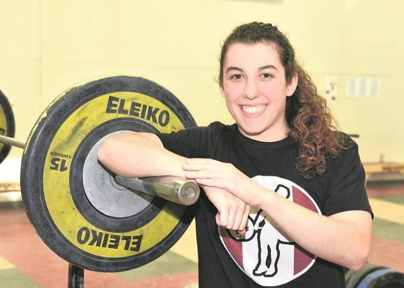 Tali Darsigny sera en compétition au Championnat mondial universitaire d'haltérophilie le 15 novembre. Photo François Larivière   Le Courrier ©