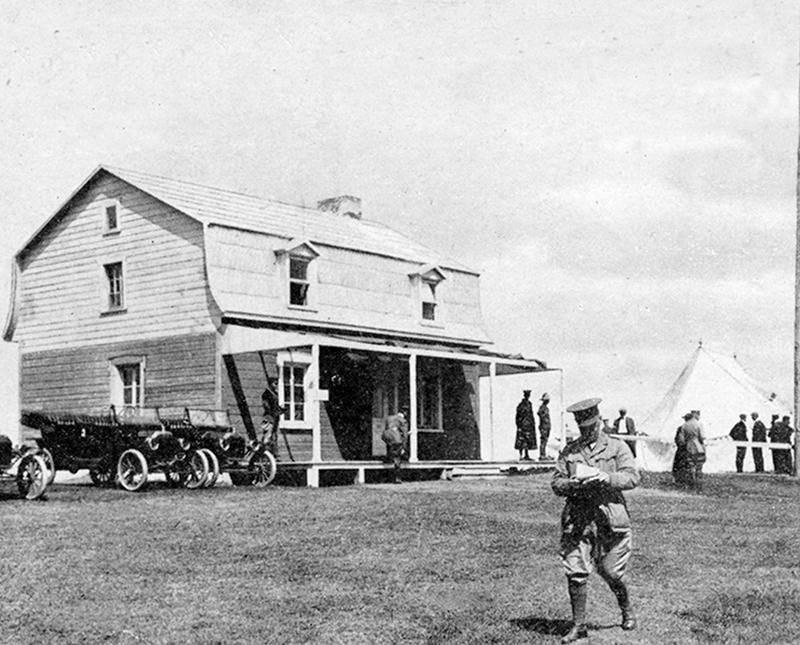 Quartiers généraux de Valcartier en 1915 Photo Centre d'histoire CH324
